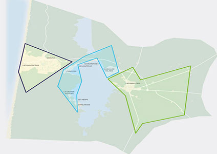 Plan des quartiers de lacanau