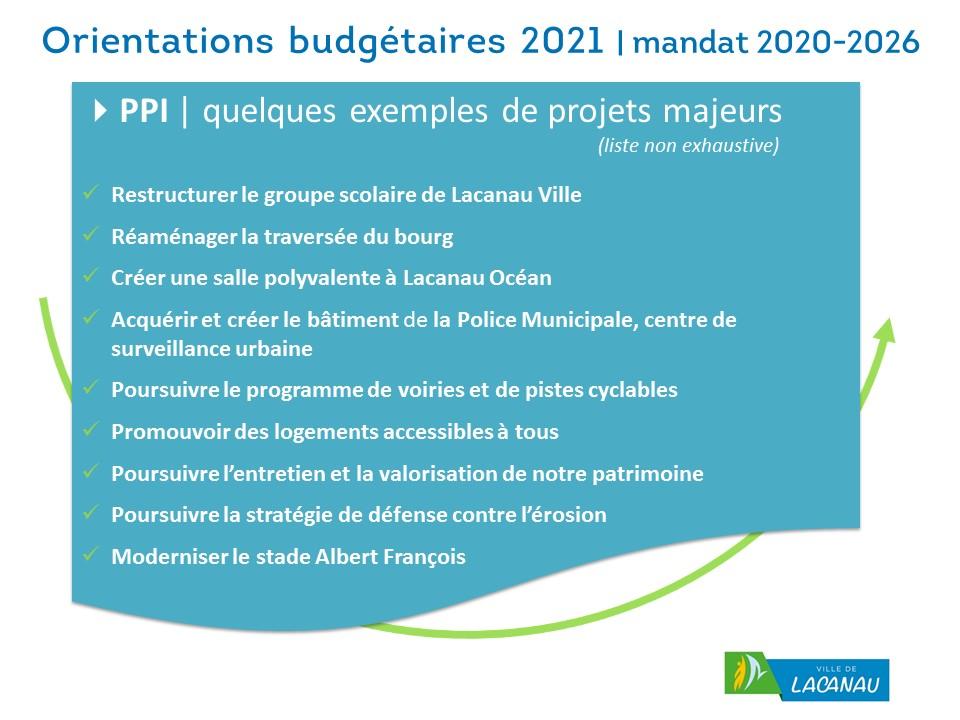 Orientation budgetaires 2021